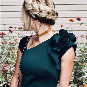 Eliza J Dresses - Green one shoulder Eliza j dress